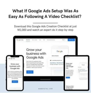 google ads checklist